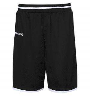 Spalding Move Shorts Sort/Hvit S Teknisk spilleshorts