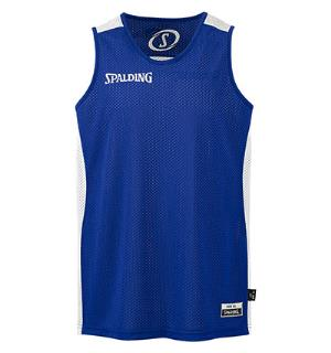 Spalding Reversible Shirt Royal/Hvit S Teknisk vendbar spilletrøye