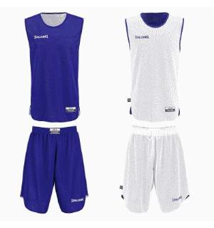 Spalding  Kids Set Royal/Hvit 116 Vendbar tosidig trøye og shorts