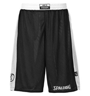 Spalding Reversible Short Sort/Hvit S Teknisk vendbar shorts