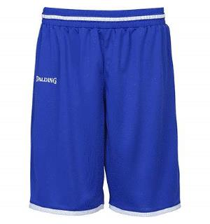 Spalding Move Shorts Royal/Hvit S Teknisk spilleshorts