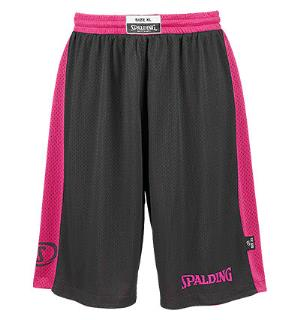 Spalding Reversible Short Sort/Rosa S Teknisk vendbar shorts