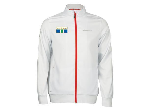 4745adbe Babolat Klubbjakke Njård Herre XXL Hvit, Njård TK Logo - Torinor Sport AS